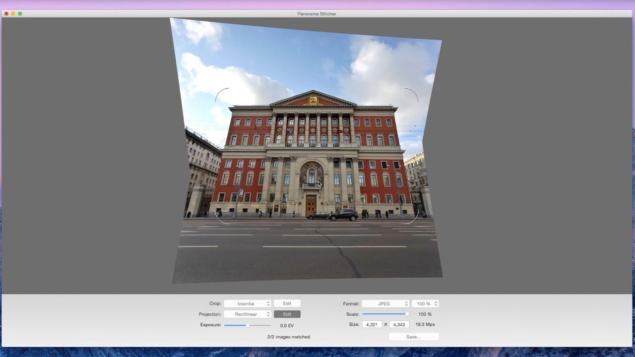 Panorama Stitcher Projection Editor