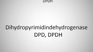 How to say dihydroorotate dehydrogenase DHODH in German?