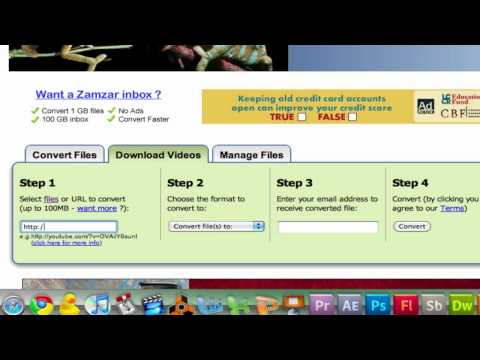 Download videos from any website and convert any files using zamzar