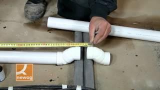 Montáž potrubí centrálního vysavače - přechod přes překážku na podlaze thumbnail