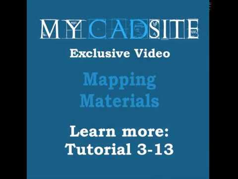 AutoCAD 2016 Mapping Materials in AutoCAD, level 3, lesson 13, Mapping Materials