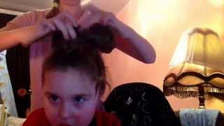 Причёска бантик) моё 1 видео)