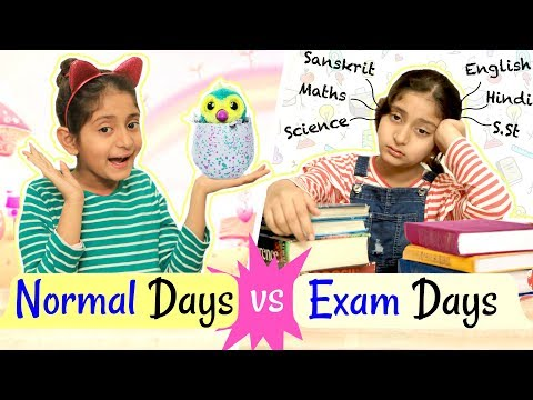 EXAMS vs NORMAL Days - Kids Routine   #Fun #Roleplay #Bloopers #MyMissAnand
