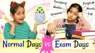 EXAMS vs NORMAL Days - Kids Routine | #Fun #Roleplay #Bloopers #MyMissAnand