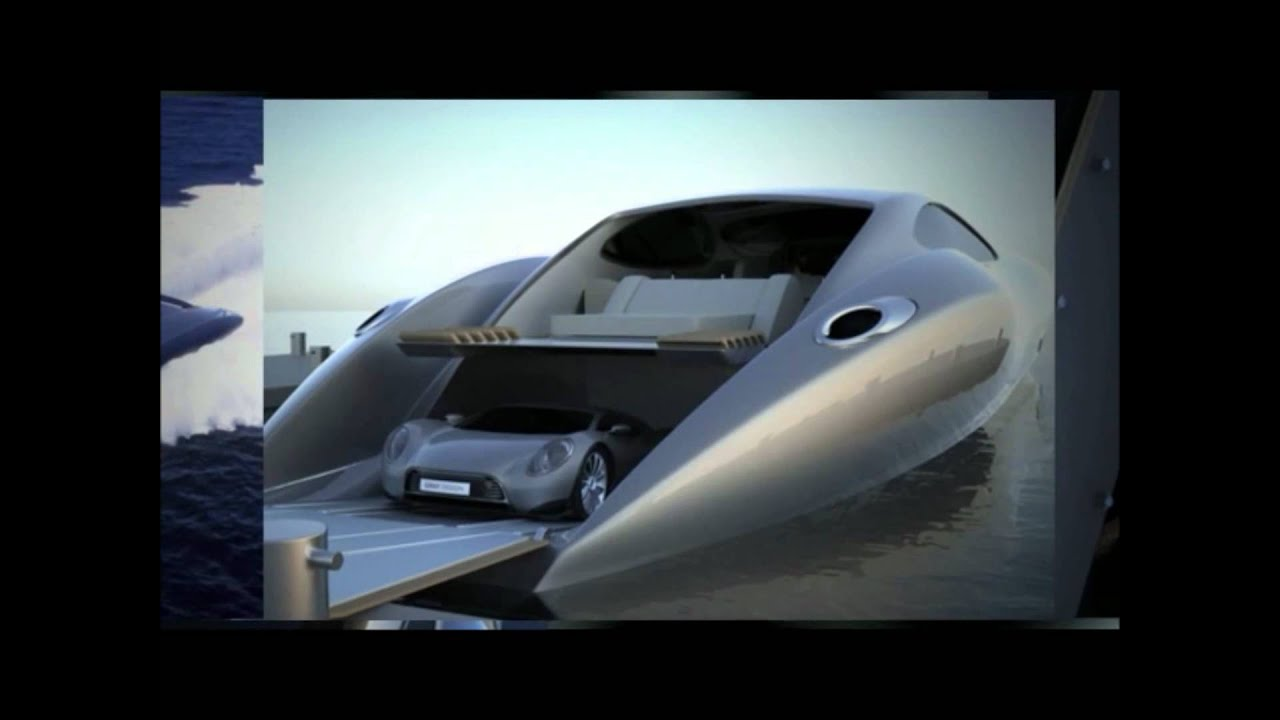 38m Super Yacht Equipped With 880hp Exotic Sports Car