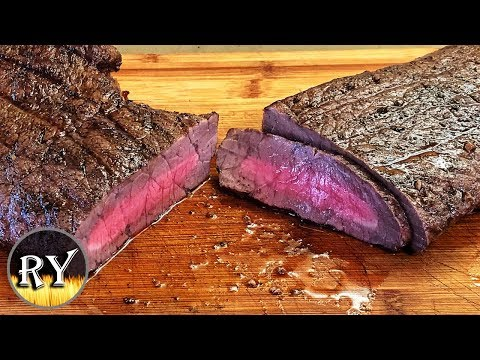 London Broil Grilled After Marinating For 3 Days