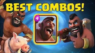 Clash royale best hog rider prince combo deck strategy for arena 5 6 7 ...