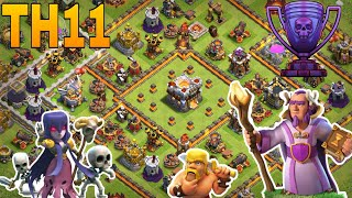 th11 trophy base / th11 troll base/coc  th11 base 2018 / legend base/ clash of clan
