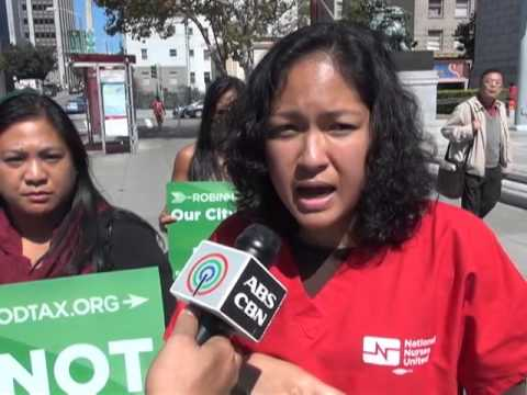 Filipino nurses rally for Robin Hood Tax