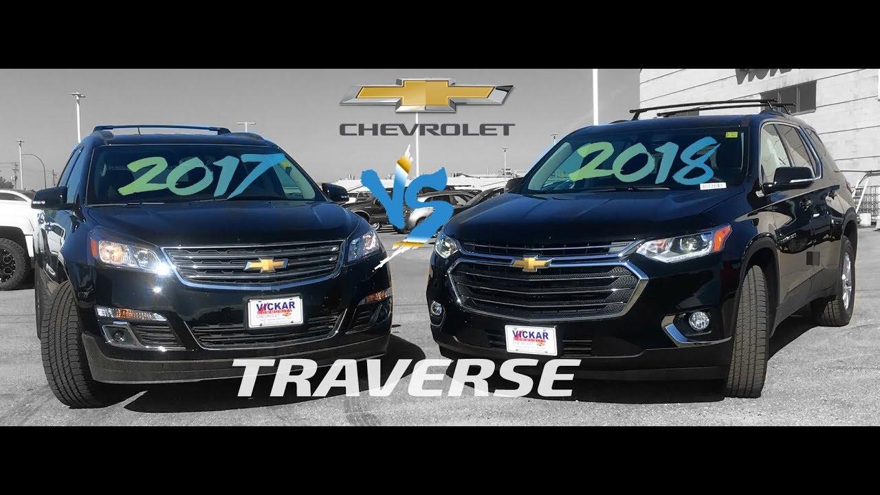 2017 Vs 2018 Chevrolet Traverse In Winnipeg Manitoba