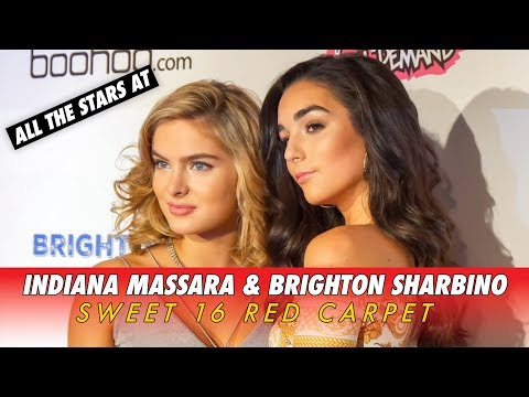INDIANA MASSARA & BRIGHTON SHARBINO SWEET 16  All The Stars on the RED CARPET