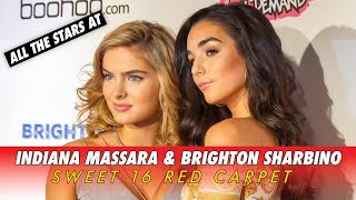 INDIANA MASSARA & BRIGHTON SHARBINO SWEET 16 || All The Stars on the RED CARPET