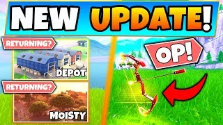 Fortnite Update: OLD LOCATIONS RETURNING?, Boom Bow OP, Tfue's Skins Idea