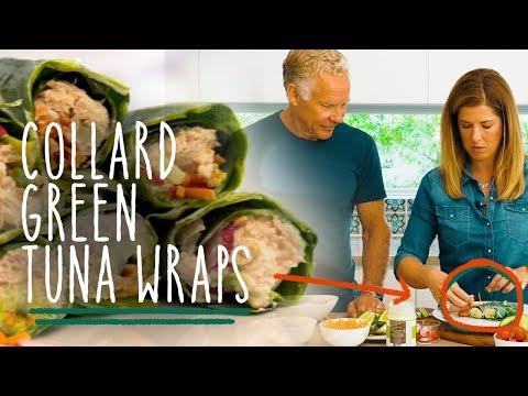 Keto Recipe Collard Green Tuna Wraps