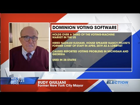 Rudy Giuliani on contact with CIA relating to election irregularities: 'I don't think I can comment' - YouTube