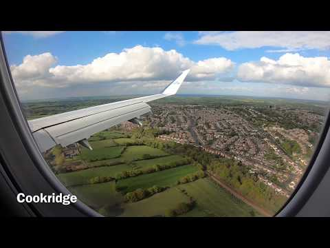 KLM Cityhopper Runway 32 Landing At Leeds Bradford Airport, West Yorkshire, England - 4 May, 2019