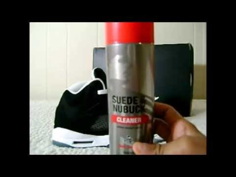 how to clean suede shoes(Oreo 5's)