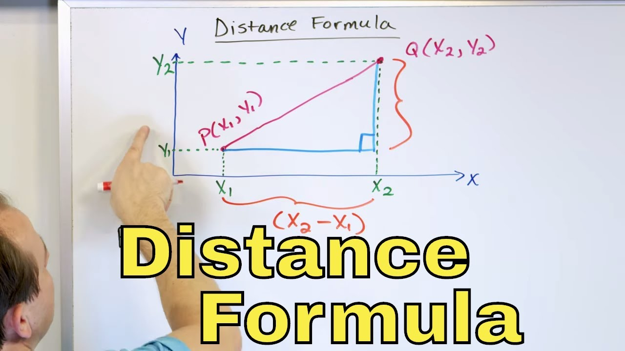 01 The Distance Formula Pythagorean Theorem Midpoint Formula Part 1 Calculate Distance Youtube