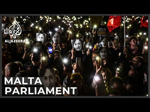 Malta Parliament surrounded by protesters demanding PM's removal