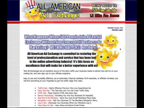 "Text Ad Exchanges Work ""All American Ad Exchange"" Use This Promo Code!"