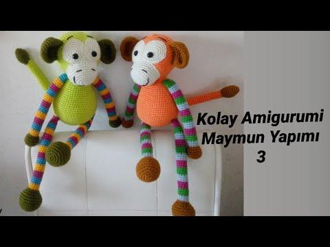 Örgü Oyuncak Maymun Yapılışı (Amigurumi) | Maymunlar, Hayvan desenleri, Amigurumi  modelleri | 360x480