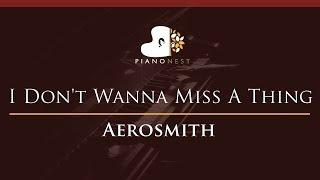 Aerosmith - I Don't Wanna Miss A Thing - HIGHER Key (Piano Karaoke / Sing Along)