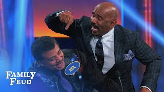 Neil deGrasse Tyson & Steve discuss Uranus | Celebrity Family Feud