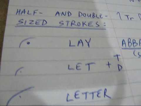 Pitman Shorthand Part 1 Of 3 Revised Youtube