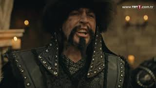 Diriliş Ertuğrul 129. bölüm - Ertuğrul Bey, Konevi'yi saldırıdan koruyor.