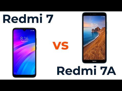 Xiaomi Redmi 7 Vs Redmi 7A Какой лучше? Стоит ли переплачивать?