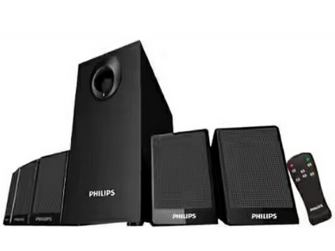 philips dsp 2800 5 1 home thearter speaker system unboxing