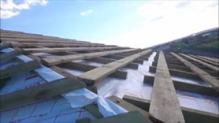 СТРОИМ ДОМ ИЗ ГАЗОБЕТОНА. Вальмовая крыша с опиранием на балки перекрытия.