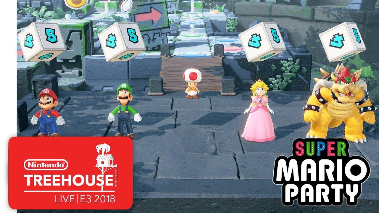 Super Mario Party Gameplay Pt. 1 - Nintendo Treehouse: Live | E3 2018