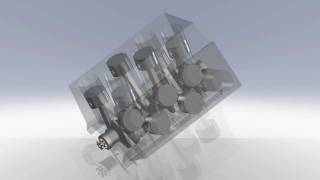 Test animation of the VW/Audi Group W12 motor done in Solidworks. I...