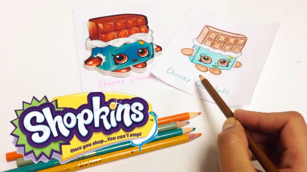 Shopkins En Espanol Como Dibujar A Cheeky Chocolate Youtube