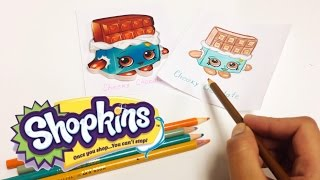 SHOPKINS en español Como dibujar a Cheeky Chocolate