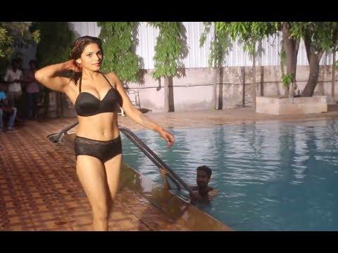 Shruti Bhabhi new Swimming pool enjoyment with husband   Hot bhabhi ne kiya pani garam thumbnail