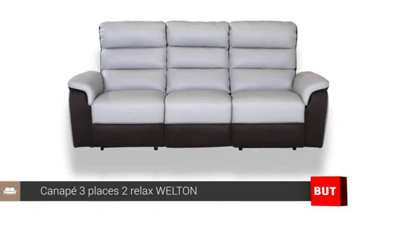 Canap 3 places 2 relax welton but youtube - Canape relax electrique ...