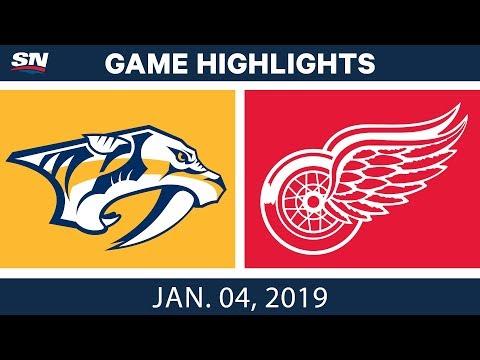 NHL Highlights | Predators vs. Red Wings - Jan. 4, 2019