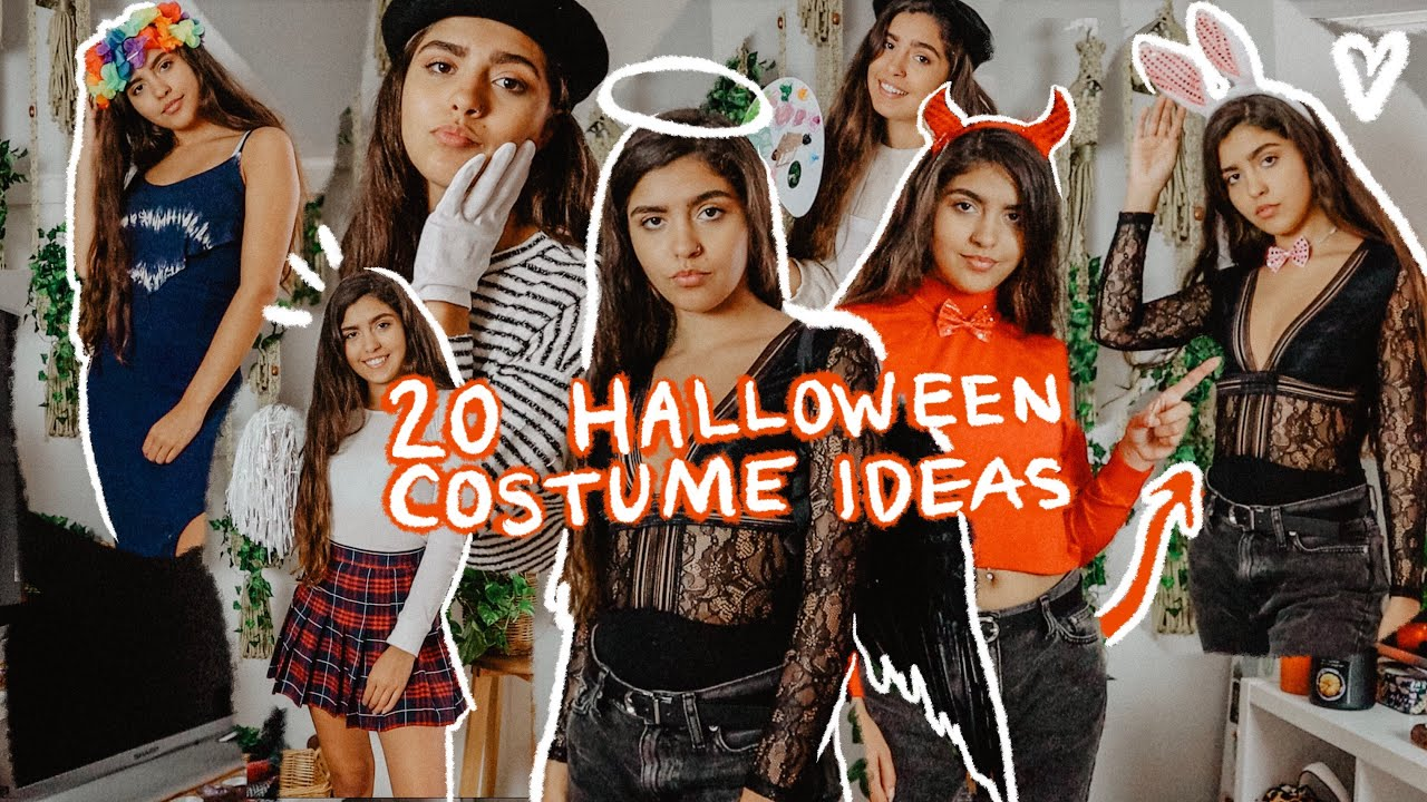 20 Halloween Costume Ideas Using Clothes You Already Have In Your Closet 2019 Last Minute Youtube