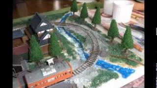 ichiro(10才) 箱庭鉄道模型作り 昭和の青梅 thumbnail