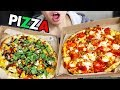 HUGE Pizza MUKBANG (Meat Lovers & Vegetarian Paradise) | Blaze Pizza Eating Show, Eating Pizza