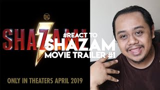 zhafvlog day 199365 react to shazam movie trailer zachary levi dceu warner bros