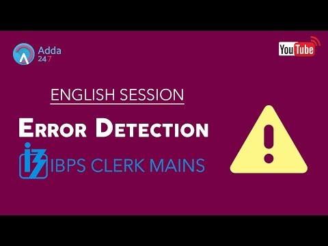 IBPS CLERK MAINS | Error Detection | English | Online Coaching For SBI IBPS BANK PO