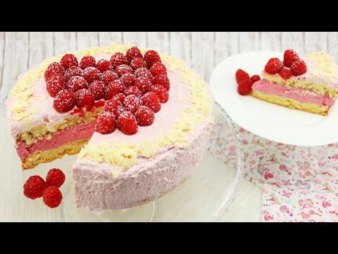 Himbeer-Sahne-Torte mit Schmand