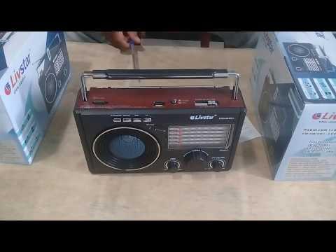 Radio Portátil Com 11 Bandas FM/AM/SW1-9 Funciona Com Pilhas Energia e Bateria Externa Bivolt