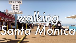 Walking Santa Monica pier, Los Angeles