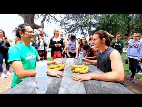 Banana Eating Contest w/ Ryan of Happy Healthy Vegan
