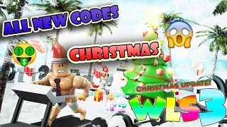 *NEW* CODES IN WEIGHT LIFTING SIMULATOR 3 ( WLS 3 ) ( Christmas Update ) ( Roblox )