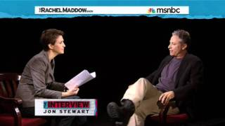 Rachel Maddow Interviews Jon Stewart (Part 2/4)